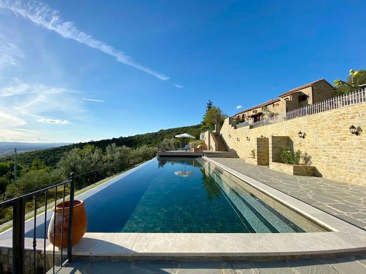 Stunning Tuscan Villa & Panoramic Infinity Pool