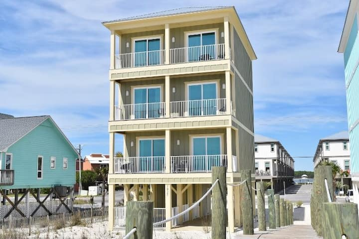 Must See Inside! Isle Be Back--New Beachfront Home with Private Pool - 18432