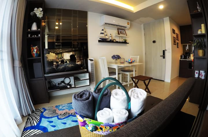 Furnished-7m walk Surin Beach+Free Airport Pick Up