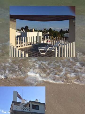 Villa Emy, Chelem, Ocean Front - Chelem - Rumah