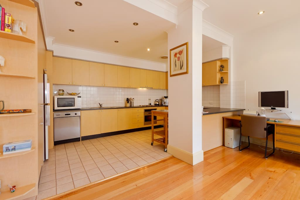 HUGE Kitchen with loads of bench and cupboard space.