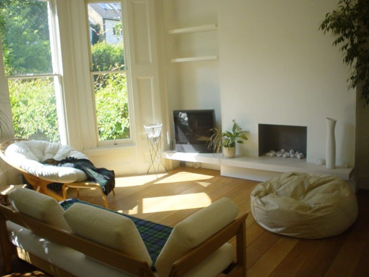 Living Room - with TV and decorative gas fire