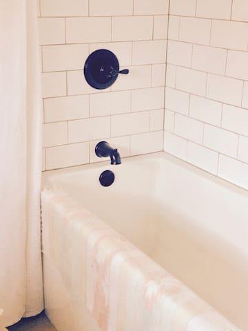 Large Soaking Tub + Shower