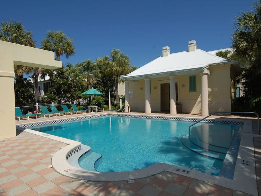 Frangista Beach Community Pool - gated with restroom facilities