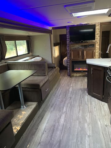 Country retreat by the rogue river in a 2019 RV