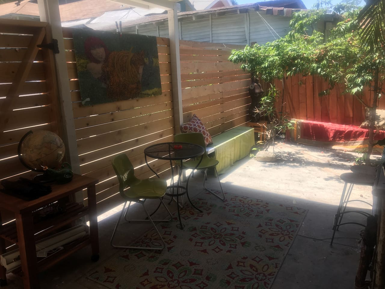 Outdoor sitting areas