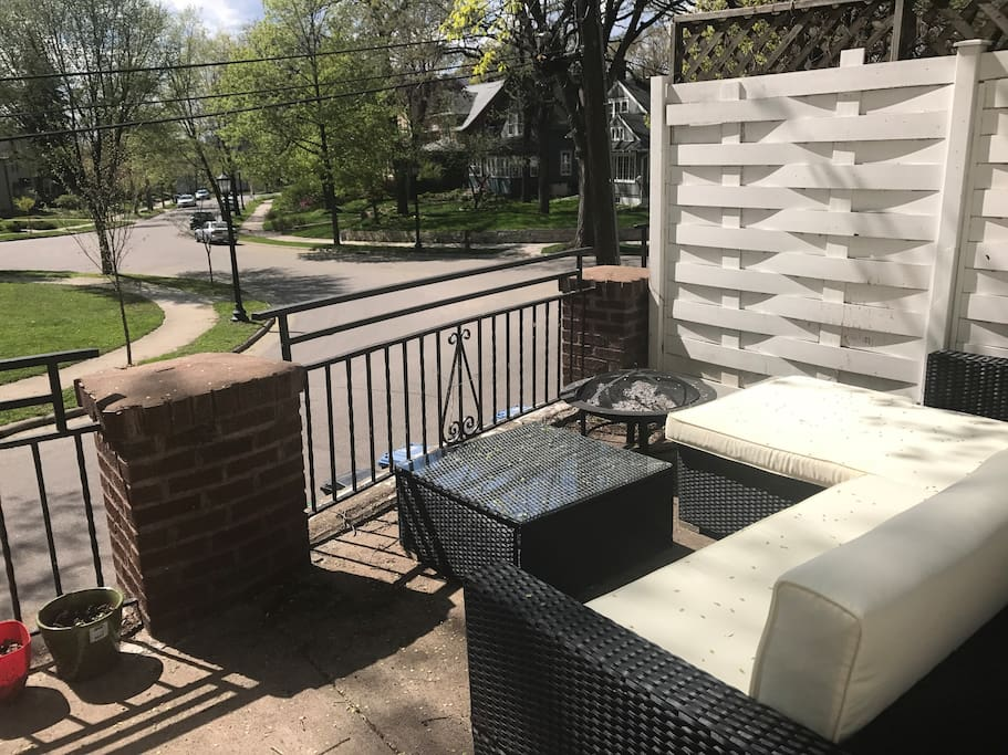 Relax after a long day on this beautiful outdoor patio overlooking Prospect Park.