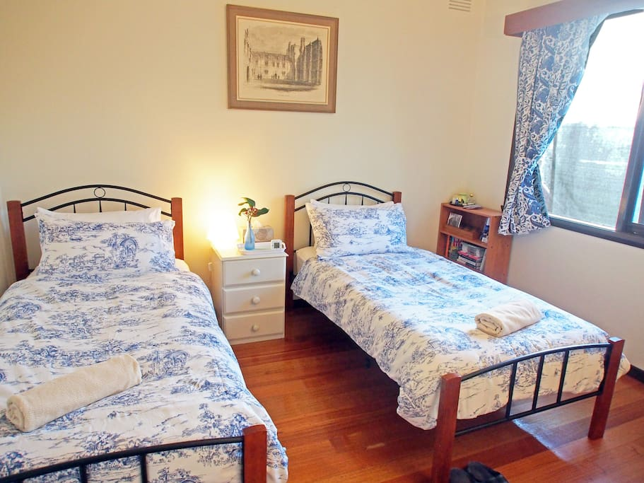Your bedroom. Comfortable, quiet and overlooking our garden.