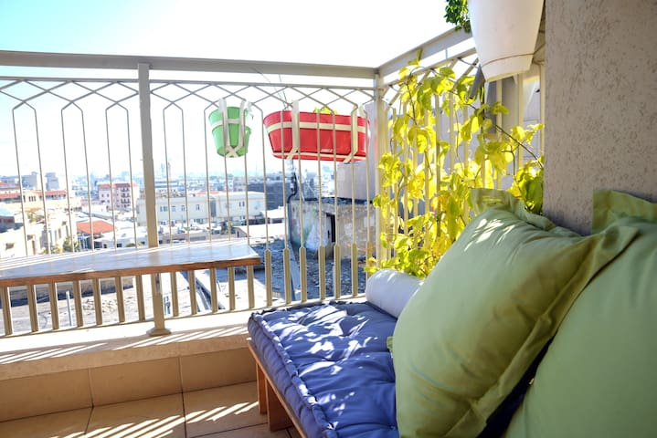 Sunny balcony and best view in the city
