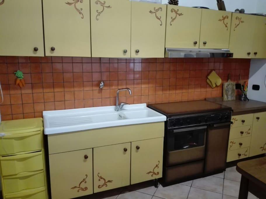 la  cucina e di 4x6 mq
