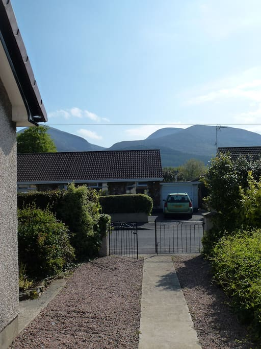 Lovely view of Slieve Donard and the Mournes - just a walk away