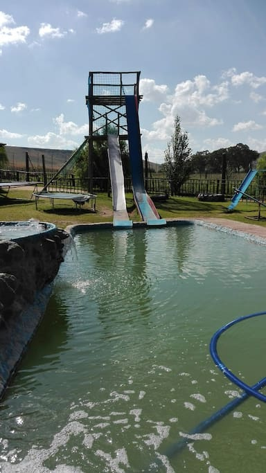 A slide right into the pool
