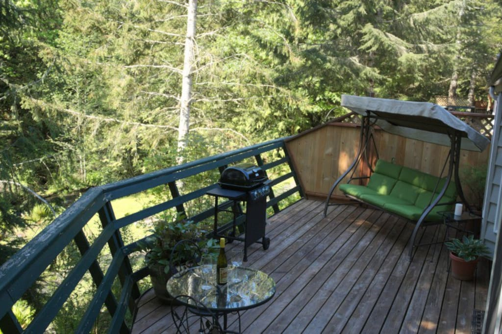 Deck overlooking creek