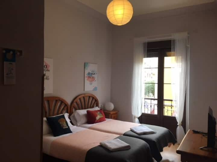 Habitación doble 2 camas Hotel Covadonga