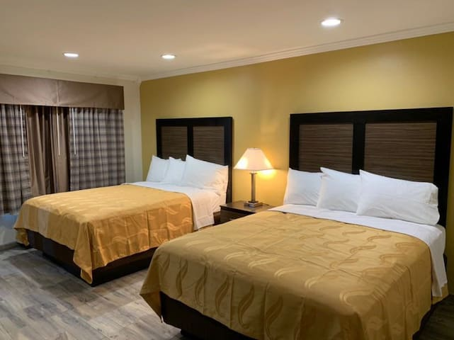 Resort setting with renovated Rooms