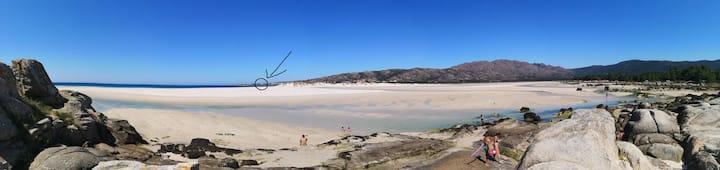 Apartamento con vistas al mar, playa de Carnota!