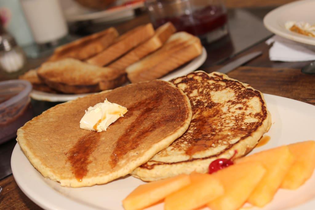 Desayunos incluidos y variados