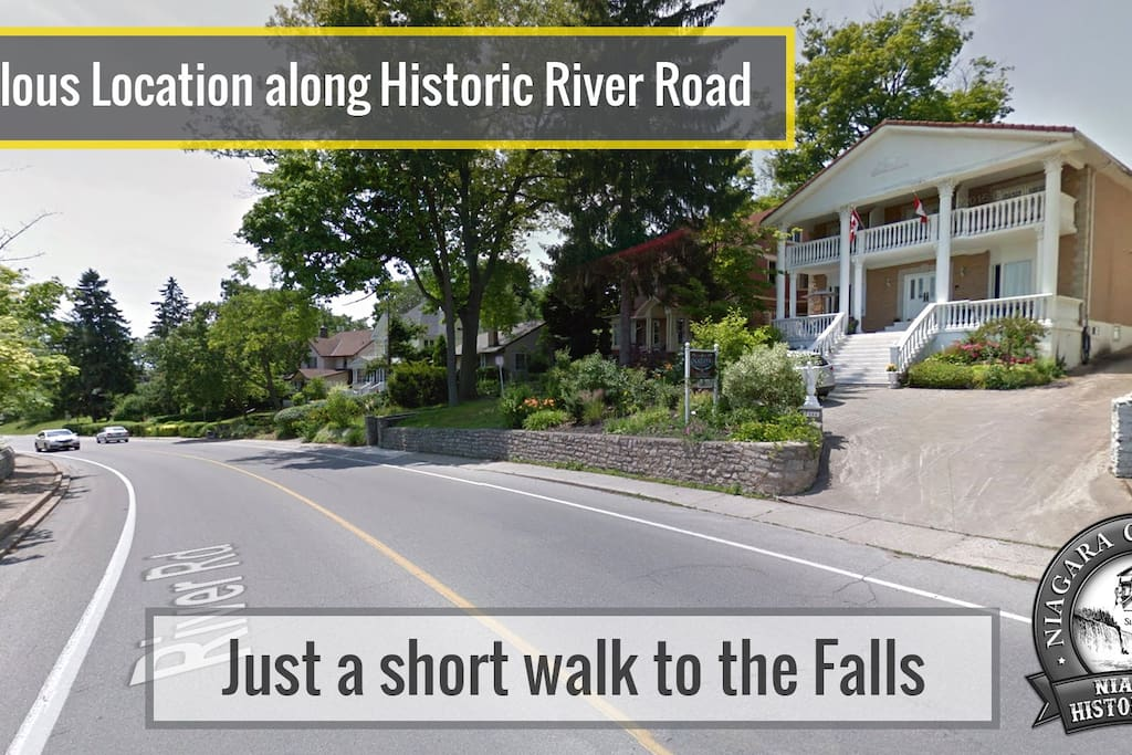We are located just a short walk to the falls and other attractions.