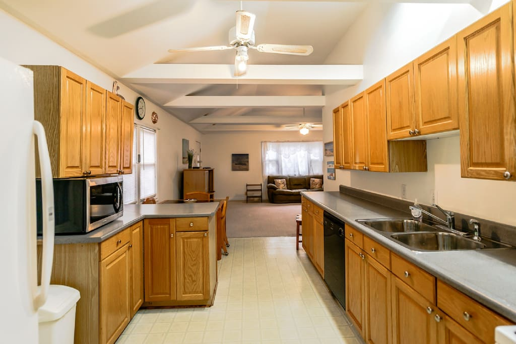 Main house kitchen comes will all cookware and dinnerware