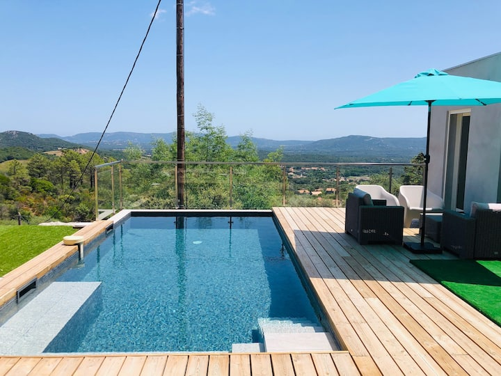 DUPLEX LUMA 4*piscine chauff.privée, spa et vue !