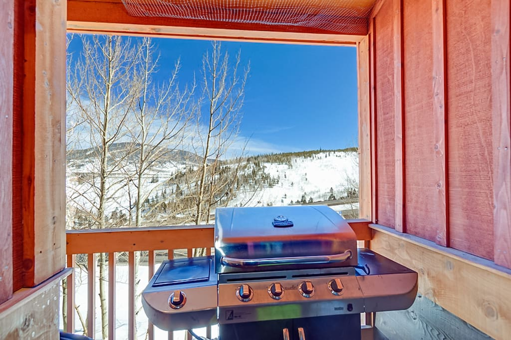 Get some fresh air on the mountain-view patio while you grill your favorite meal.