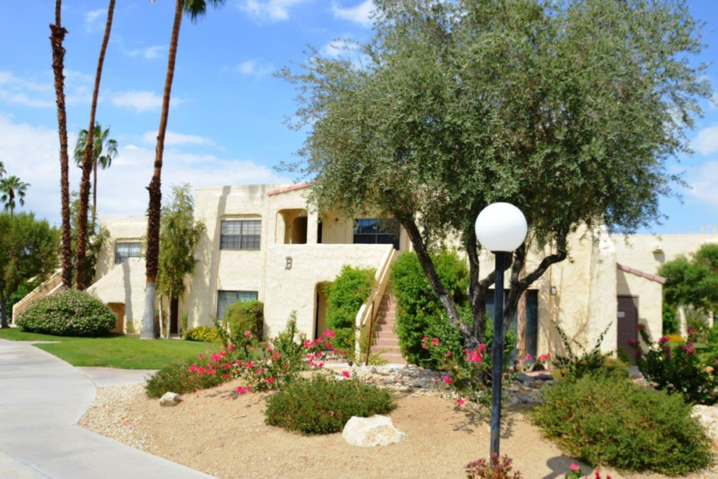 Right off the Pool at Palm Springs Golf & Tennis Club Condos!