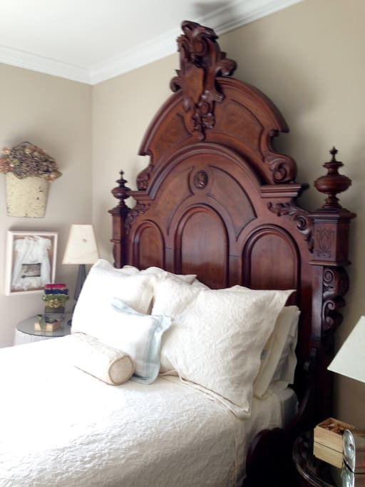 The double bed in the South Room
