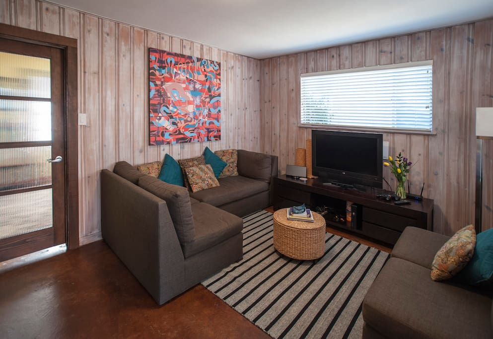 Living Room features original art by local artists.