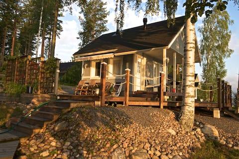 Casita con sauna al lado del lago Saimaa