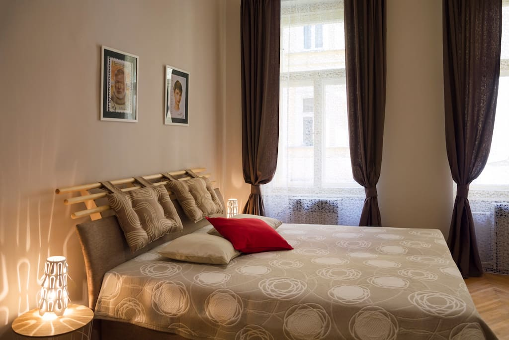 2 Bedroom: with king-size bed for two person and foldout sofa for two person.