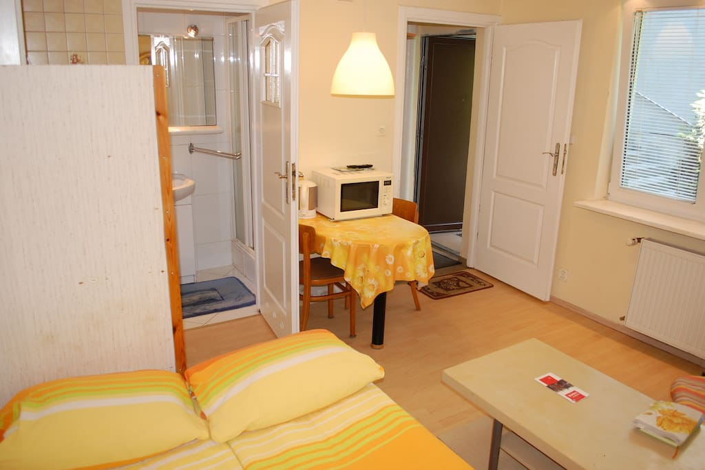 1. Apartment, 1-room-apartment for 2-3 Persons