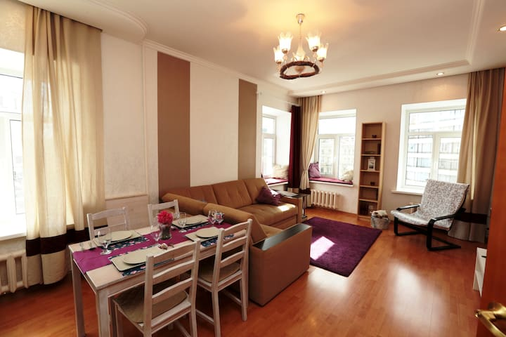 Apartment with a panoramic view of Ligovsky.