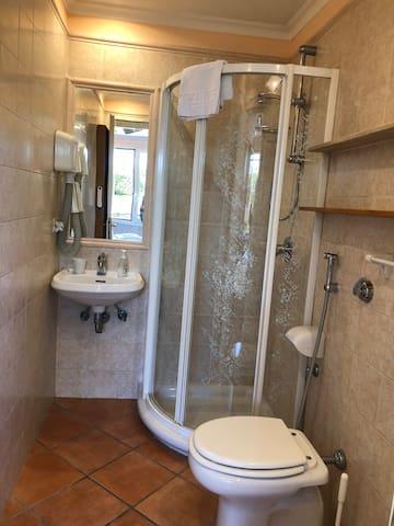 Bath room with shower (no Bath Tub)