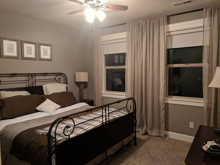 This is the bedroom. It is upstairs.
