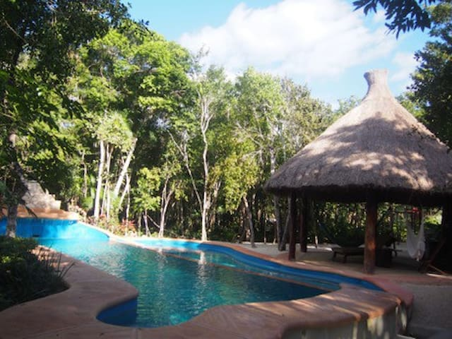 "Villa ""I love it"" in the jungle 2km From the Beach - Chemuyil - Timeshare"
