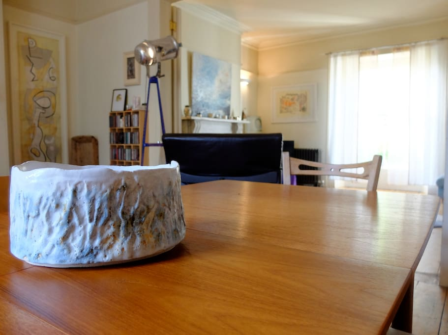 dining room with extendable table