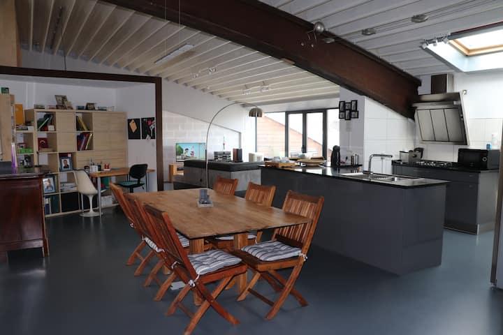 Loft design  3 chambres Laveu - proche de tout
