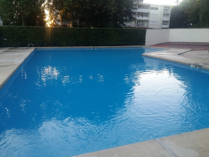Chambre à Chilly Mazarin avec piscine privée