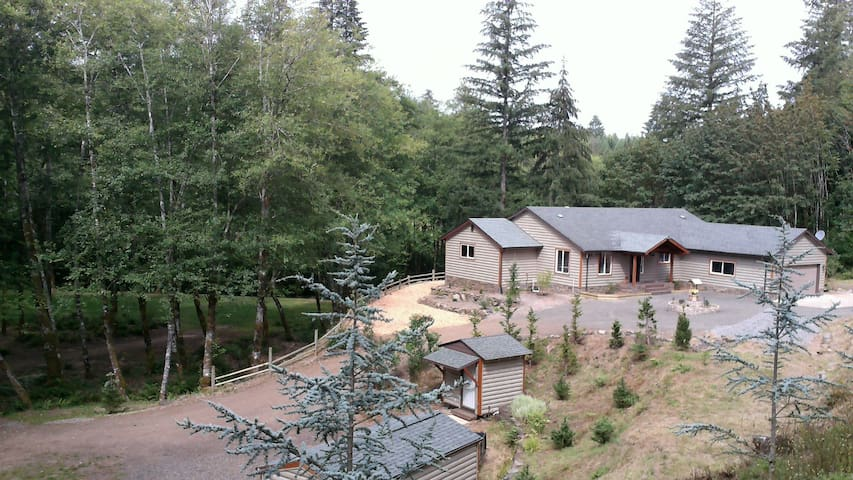 Cabin in the woods on Little Kalama River