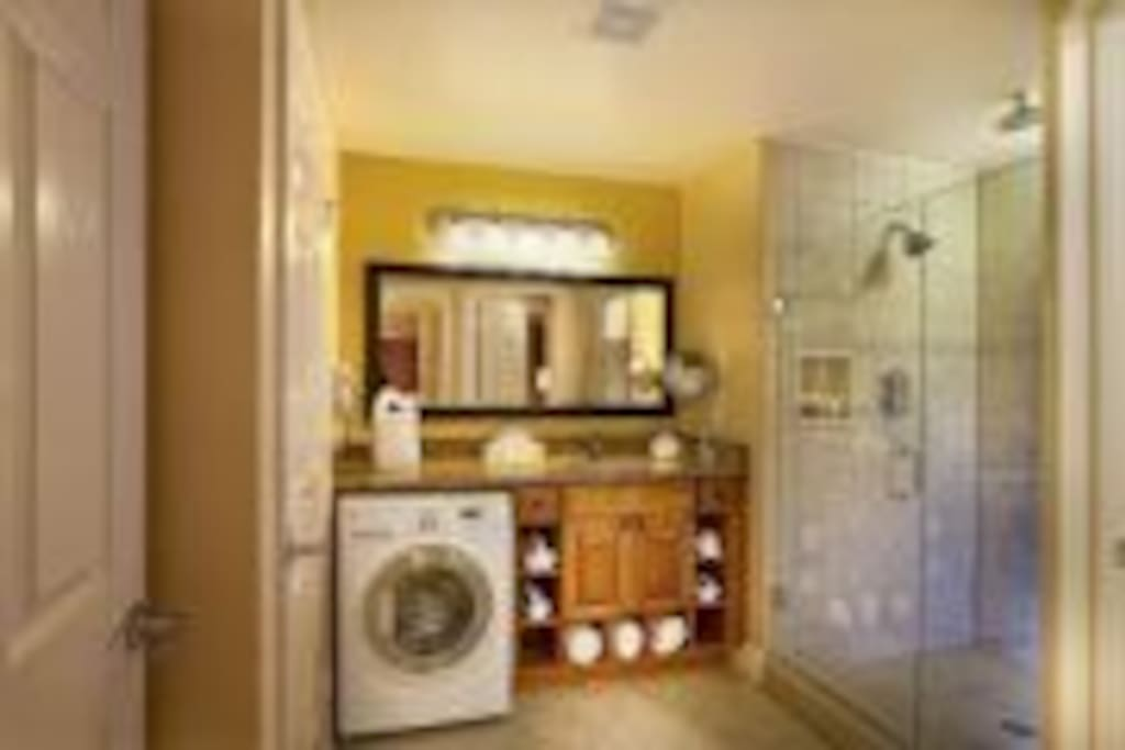 Enjoy the convenience of your own in-room washer and dryer.