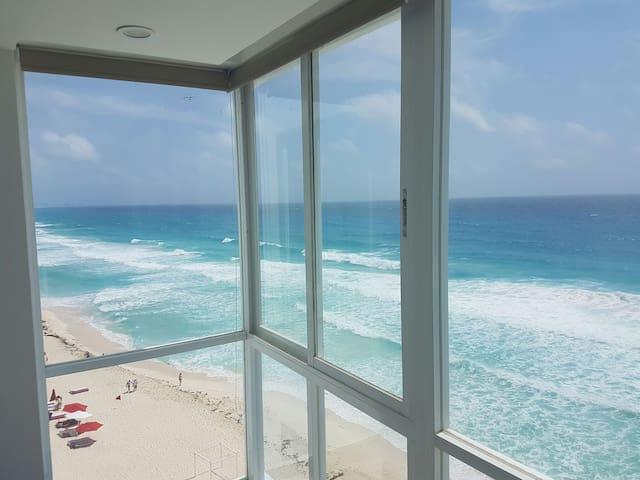 Ocean view studio/Cancun hotel zone