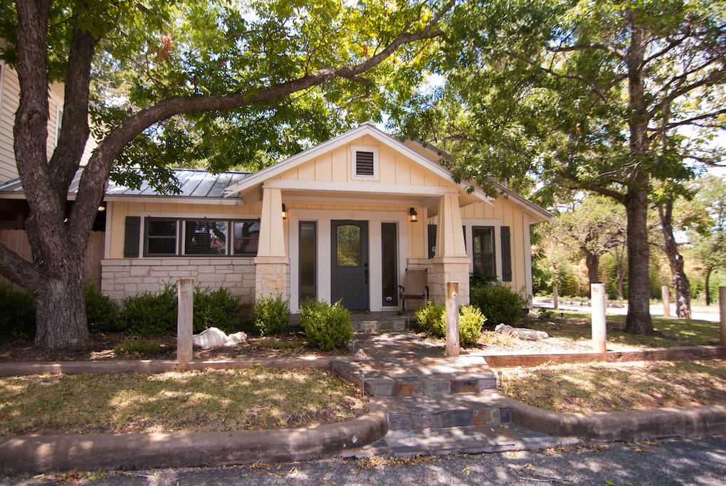 Country living in this 1930's Craftman Home, 7 blocks from the heart of Fredericksburg, Texas.