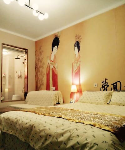 钟楼旁的精美公寓7,旅游度假首选,有阳光,007 - Xi'an - Apartemen