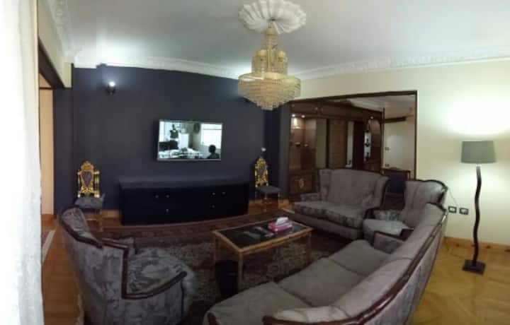 A comfy apartment in Mohandiseen, neat quiet area