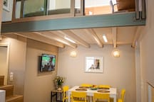dining area and loft