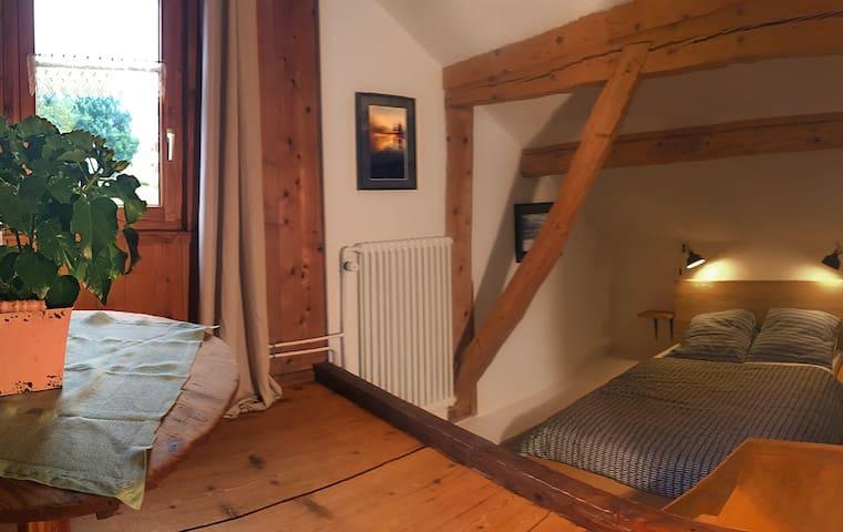 Petite chambre à coucher, 2 lits en alcôve