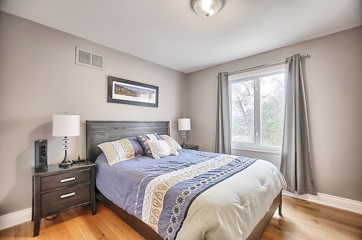 2nd Bedroom with large window and double closet