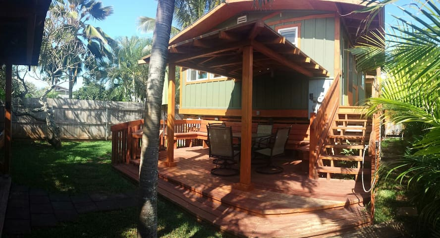 Cozy & private 2bd Waialua cottage - Waialua - Casa