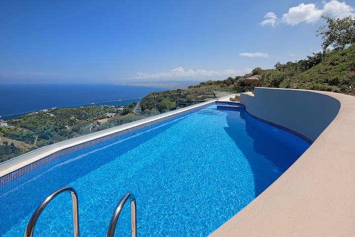 Sea view Villa Omikron with private Pool ! - Rodia - วิลล่า