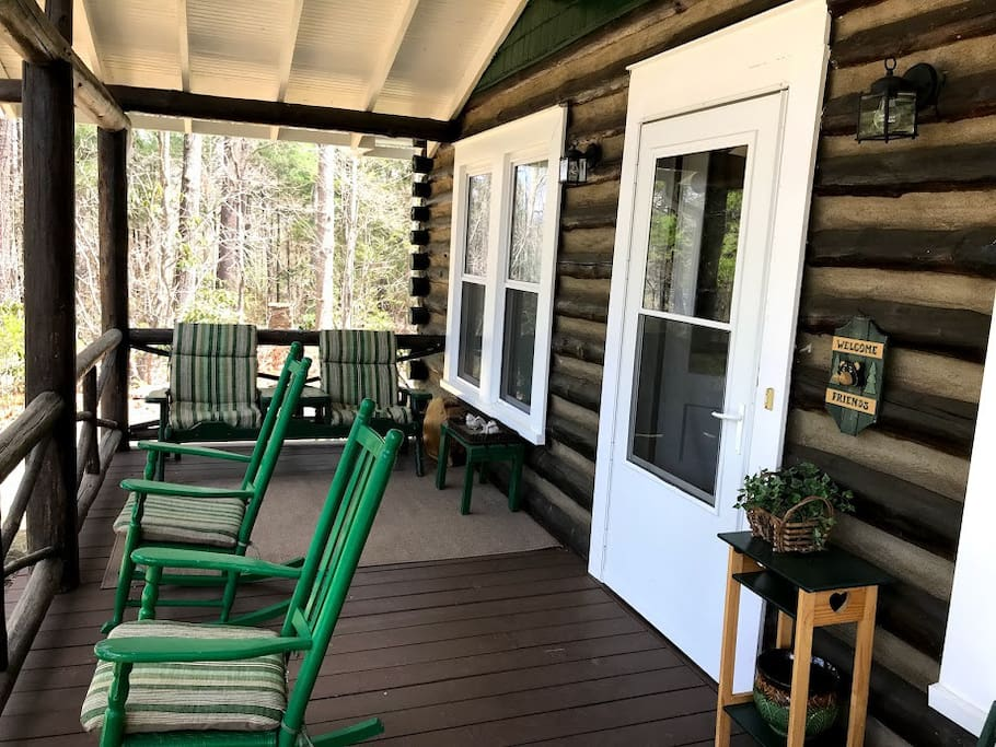 Open-air front porch